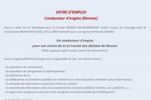 Conducteur d'engins - ROMI Rennes